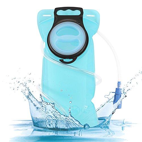 SHIJI 2 Litri Portable Sacca Idratazione Idraulica Della Vescica Approvato Dalla FDA, BPA-FREE, Facile Pulito, Ottimo Per Ciclismo All'Aperto, Escursionismo, Correndo, Campeggio, Passeggiata