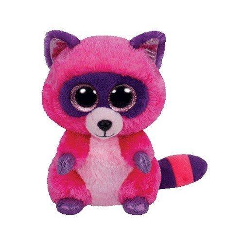"""Beanie Boo Racoon - Roxie - Pink - 15cm 6"""""""