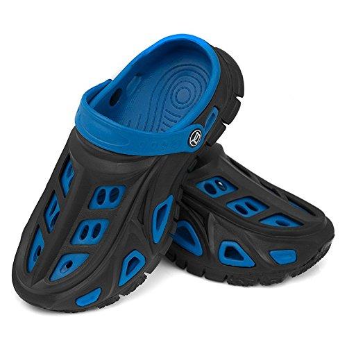 AQUA-SPEED Miami Kinder Badeschuhe / Clogs - sehr leicht schwarz/blau