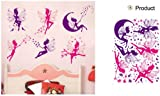 Feen Wandsticker Wanddekoration Kinder Wandbild Aufkleber Zeichentrickfilm