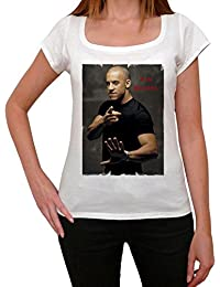 Vin Diesel, tee shirt femme, imprimé célébrité,Blanc, t shirt femme,cadeau