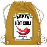 Karneval & Fasching - Hot Chili Soße Kostüm - Unisize - Senfgelb - WM110 - Turnbeutel & Gym Bag