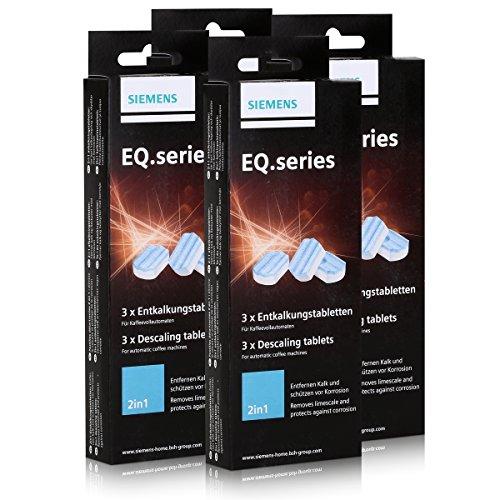 SIEMENS TZ80002 12 Stück Entkalkungstabletten für alle EQ + surpresso Kaffeevollautomaten