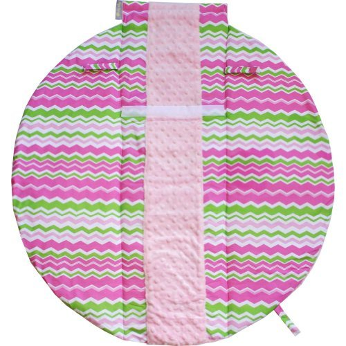 itzy-ritzy-wrap-roll-infant-carrier-arm-pad-tummy-time-mat-little-miss-zig-zag-discontinued-by-manuf