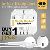 #7: Mobile Gabbar Earphone With Mic/Headphones With Mic Compatible with Samsung, Motorola, Sony, Oneplus, HTC, Lenovo, Nokia, Asus, Lg, Coolpad, Xiaomi, Micromax and All Android Phones having 3.5mm Jack