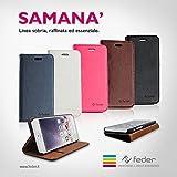 Libreta protectora Compatible para iPhone 6 y 6S Feder Black, mod Samana