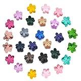 Mini Haarclips Baby Blumen Mini haarklammer Mix Farben Blumen Haar Greifer Baby Hairpin Kinder Haar Zubehör (30 Stücke)