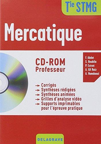Mercatique Tle STMG : Professeur 2015 (1Cédérom) par Collectif