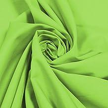 Plain Solid Color tela de polialgodón (por metro), color verde lima