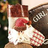 prbll Prbllkleine Bonbontüte, Weihnachtsdekoration Socken Weihnachtsbaumanhänger Kindergarten Hängetasche Geschenkbeutel Geschenk Weihnachten, 10G 12 * 10 Alte Ledersocken