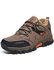Onenice Chaussures de randonnée homme femme Cuir respirant Marche extérieur Trail escalade Sneaker pour le camping Athletic Running Chaussures de sport de voyage, Homme, G-27 Brown