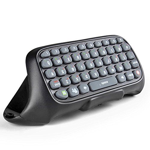 GamesDur Xbox 360 Controller Tastatur - kabelloser Mini Live Text Messenger Chatpad Tastatur Adapter für Xbox 360 Gamepad Game-Controller