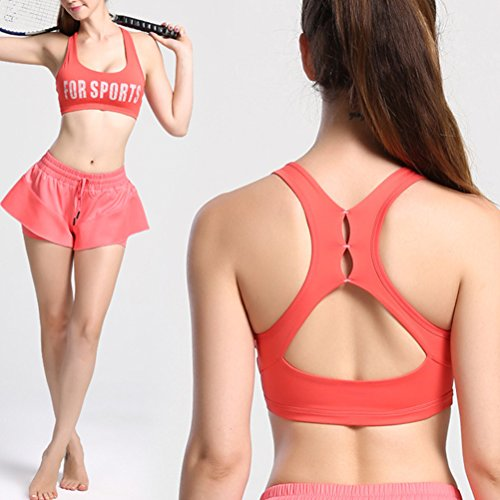 Zhhlaixing Sexy Women Running Yoga Fitness Stretch Workout Tank Top Des sports Bra Watermelon Red