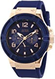 Guess W0247G3 Rigor  - Wristwatch men's, Silicone, Band Colour: Blue