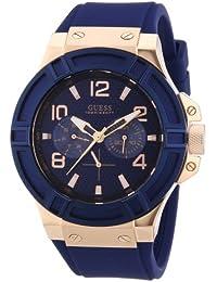 Guess Herren-Armbanduhr XL Analog Quarz Silikon W0247G3
