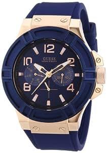 Guess Herren-Armbanduhr Analog Quarz Edelstahl W0247G3