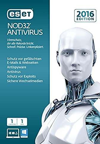 ESET NOD32 Antivirus 2016 Edition 1 User [PC Download]