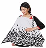 #4: Lula Mom Cotton Nursing Cover for Breastfeeding Privacy EXTRA WIDE - Grey Color