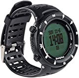 Semptec Urban Survival Technology Outdoor-Armbanduhr für Trekking, Black-Edition