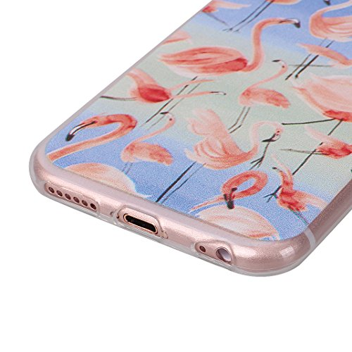 2 PCS iPhone 6/6S Schale 4.7 Zoll, iPhone 6 Hülle Silikon, iPhone 6S Hülle Silikon, Moon mood® TPU Silikon Handyhülle Schutzhülle für Apple iPhone 6/6S Thin Dünn Weich TPU Flexibel Silikon Schutz Etui Muster 5