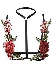 EOZY Sujetador Cadena Hueco para Mujer Push Up Ajustable Flor