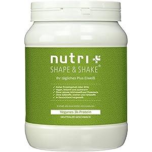 Nutri-Plus Shape & Shake Vegan 500g – Veganes Eiweißpulver ohne Aspartam, Laktose & Milcheiweiß