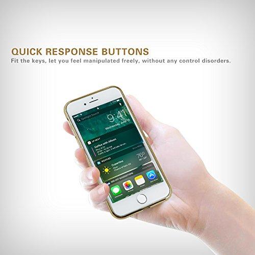 Iphone 7 Hülle, weiche TPU Silkon Schutzhülle mit der Grenze von der Farbe der Galvanik, für Iphone 7 Hülle -- Gold Gold