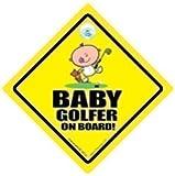 Baby Golfer On Board Auto Aufkleber Schild Sticker