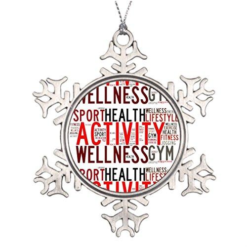 TEE Popo Ast Dekoration Gym Fitness Worte Christbäume verziert (Dekorationen Weihnachten Clearance Online)