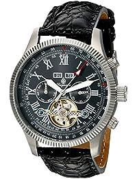 Burgmeister Armbanduhr für Herren mit Analog Anzeige, Automatik-Uhr und Lederarmband - Wasserdichte Herrenuhr mit zeitlosem, schickem Design - klassische Uhr für Männer - BM330-122 Malabo