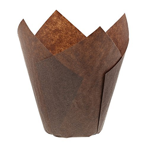 Sleeve-liner (Royal Brown Tulip Style Baking Cups, Large, Sleeve of 200 by Royal)