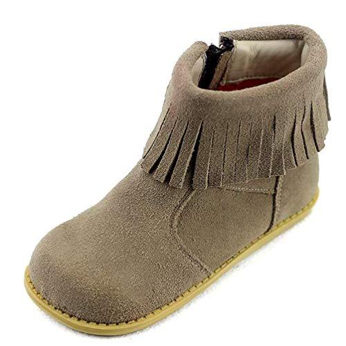 95d2287c8 ZHRUI Niños Botas Calientes de Invierno para niñas Botas de Nieve Botines  con Flecos Martin Zapatos