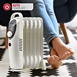 NETTA 800W Oil Filled Electric Heater Radiator with Thermostat - 6 Fin
