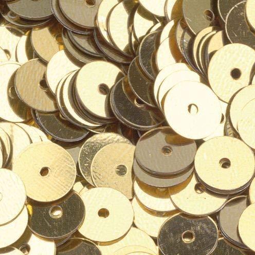 efco rund flach Pailletten, Gold, 6mm, 40g, 4000-piece