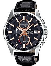0d607422b23d CASIO Reloj Cronógrafo para Hombre de Energía Solar con Correa en Cuero  EFB-560SBL-