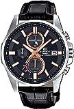 CASIO Reloj Cronógrafo para Hombre de Energía Solar con Correa en Cuero EFB-560SBL-1AVUER