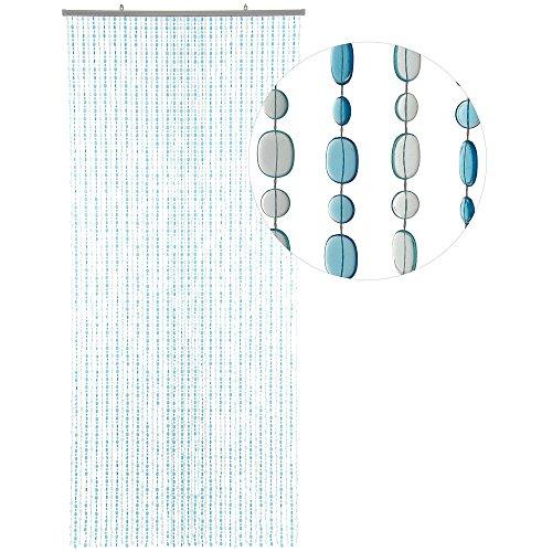 Hab & gut (dv0223 tenda per porte design: ovale, colore: blu/blu chiaro, materiale: plastica, dimensioni: 90 x 200 cm