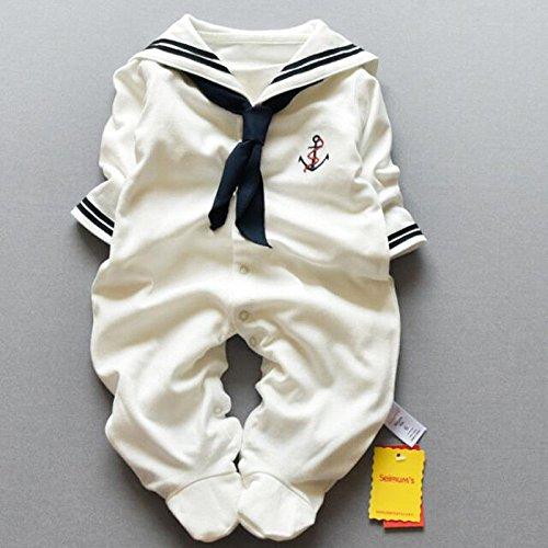 zooarts Neugeborene Baby Unisex Mädchen Jungen Sailor Strampler One Piece lange Ärmel Footies Foto Requisiten Body Outfit für 0–12Monate Baby Herbst Winter Kleidung, multi, 9-12 Monate