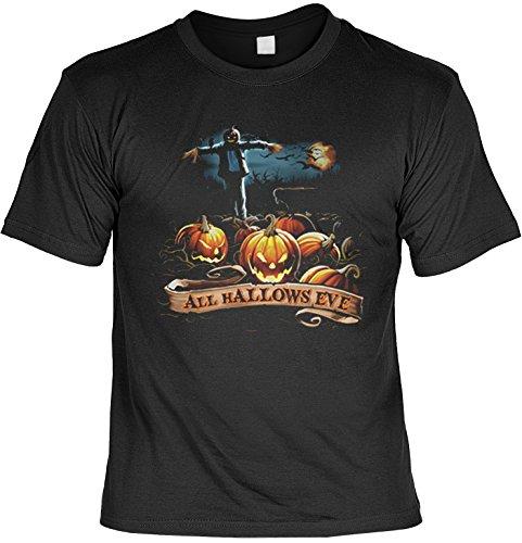 Halloween Allerheiligen All hallows eve Vogelscheuche Trick or Treat Halloween Kürbisse (Größe: XL) Fb schwarz