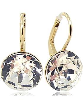 Ohrringe mit Kristallen von Swarovski® für Damen - Viele Farben - Gold - NOBEL SCHMUCK