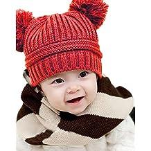 ZARU Bebé lindo de los niños de la muchacha del muchacho de doble Pompon  bolas de 6b16b93082d