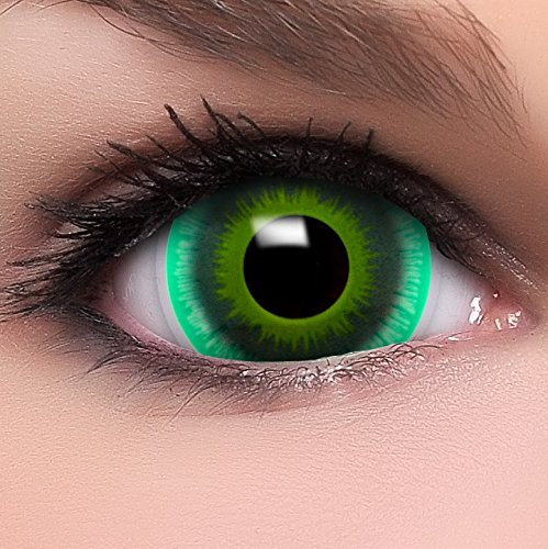 Kostüm Alien Kontaktlinsen - Farbige Mini Sclera Kontaktlinsen Lenses Alien inkl. Behälter - Top Linsenfinder Markenqualität, 1Paar (2 Stück)