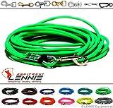 Schleppleine aus 6 mm runder BioThane® / 1-30 Meter [5m] / 17 Farben [Neon-Grün] / ohne Handschlaufe