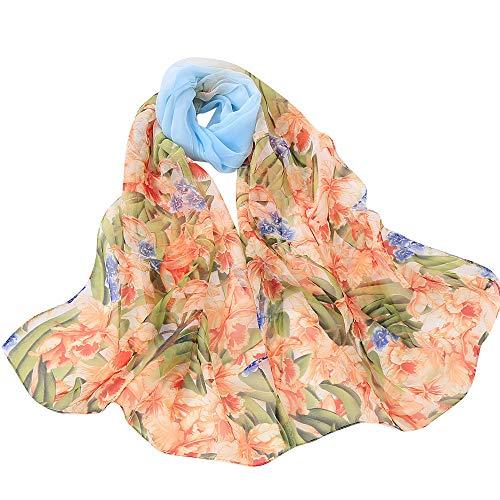 Fenverk Mode Frau Solide Punkt Drucken Lange Weich Wickeln Schal Damen Schals Promi-Stil Maxi Groß TüCher Sarong Designer Leicht Kimono,160x50cm(Hellblau) (Promi Kostüm Vampir)