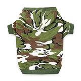 DroolingDog Dog Camo Hoodie Hunde-Bekleidung Hund Shirts für Hunde medium (5.5-8.8lb) grün