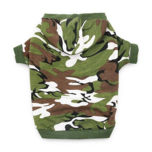DroolingDog Dog Camo Hoodie Hunde-Bekleidung Hund Shirts für Hunde xxx-large grün
