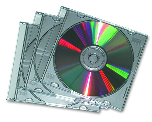 Fellowes Jewel Case Slim Custodia per CD, 25 Pezzi, Trasparente/Metallo