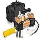 ZHAORLL 220 V doppelzylinder Auto luftpumpe, Haushalt auslaufschutz 50S schnell aufblasbare kleine tragbare luftdruckpumpe