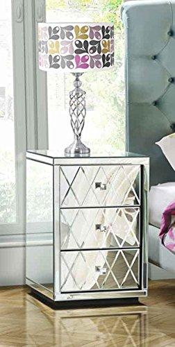 My-Furniture – Mesilla de Noche con 3 cajones y Espejo – Gama Knightsbridge