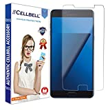 CELLBELL® Tempered Glass Screen Protector For Samsung Galaxy C7 Pro With FREE Installation Kit